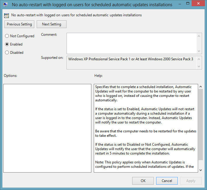 how to stop automatic updates windows 8