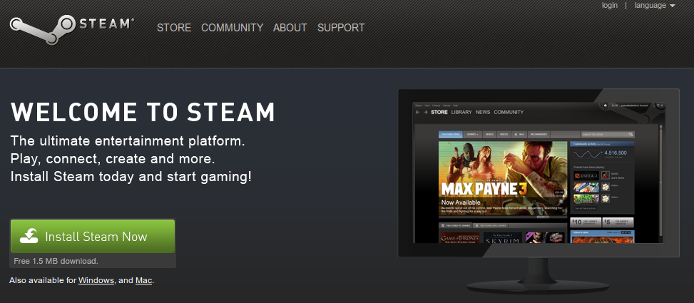 Steam on Linux (Debian, Ubuntu, Linux Mint)? Yep  Possible