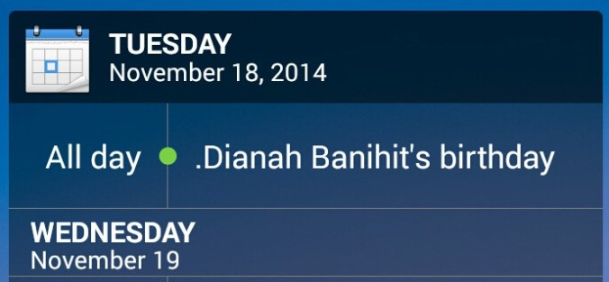 Stock Calendar Widget for Xperia Z3 Compact