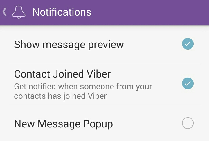 Viber: Contact Joined Viber