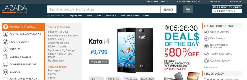 Lazada Philippines Website