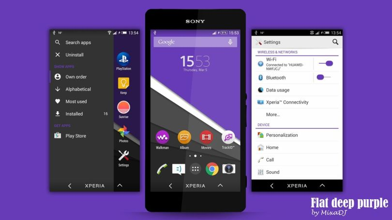 Xperia Flat Theme - Purple
