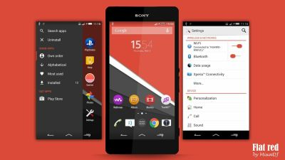 Xperia Flat Theme - Red