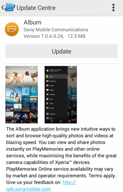 March 5, 2015 Album App Update