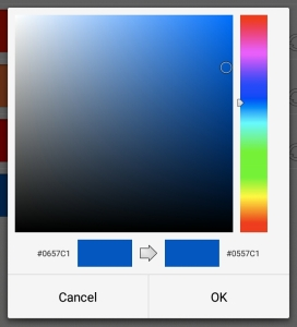Set Calendar Colors: Color Picker
