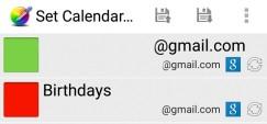 Set Calendar Colors: Accounts