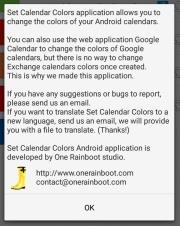 Set Calendar Colors: About