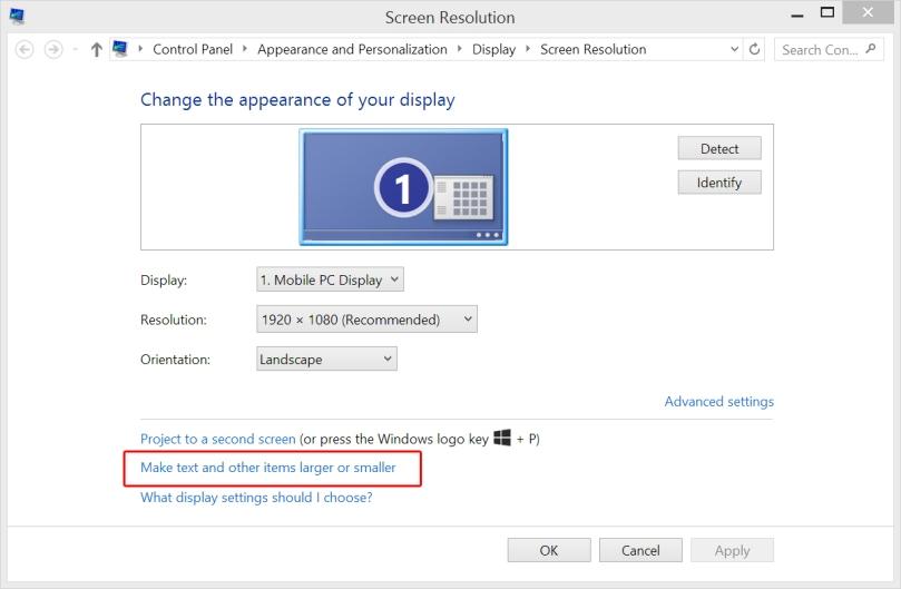 Screen Resolution Window