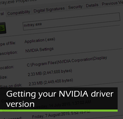 Getting your NVIDIA driver version