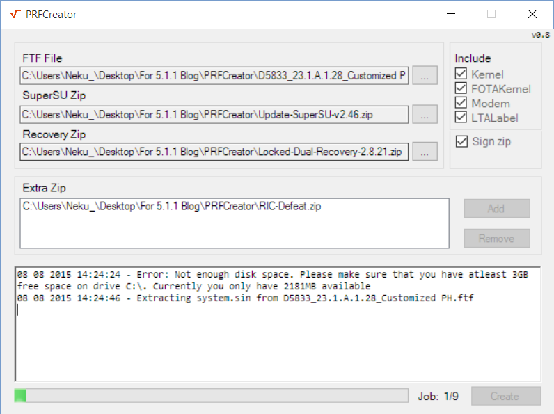 PRFCreator (Creating a flashable zip)