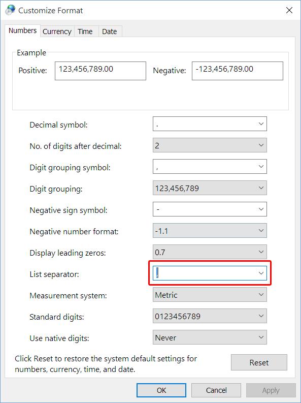 Language Control Panel Window - Region Settings Additional Options