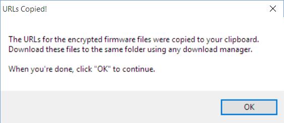 XperiFirm download URL copied