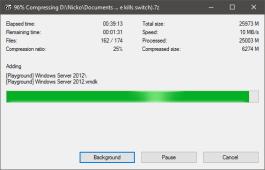 7-zip VM instance compression - Ultra